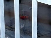 October 4, 2008: Two chairs and a microwave lay abandoned on the first floor.