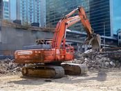 October 13, 2008: Excavator at work near the center of the site.