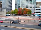 November 2, 2008: Site of the former 1815 North Fort Myer Drive following the completion of demolition work.