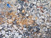 November 2, 2008: Concrete and brick debris on the ground.