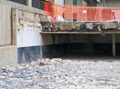 November 2, 2008: Section of a former parking garage that left by the demolition contractor.