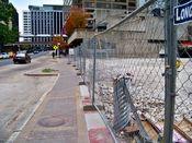 November 2, 2008: Perimeter fence along North Moore Street.