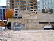 November 2, 2008: North side of Rosslyn Center adjacent to the demolition site.
