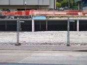 November 2, 2008: Perimeter fence along the east side of the site.