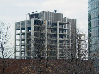 And now, on February 9, 2005, most of the exterior curtain wall is gone, and the interior has been removed.