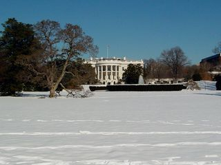 The South Portico and the South Lawn are a sight to behold to begin with, and when covered with snow, the scene is really just breathtaking.