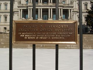 Next door to the White House is the Dwight D. Eisenhower Executive Office Building, historically known as the Old Executive Office Building.