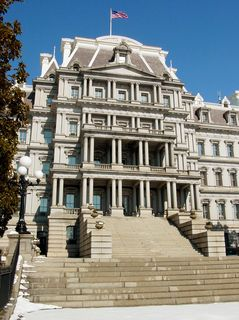 As you can see, the Old Executive Office Building is built in a considerably different style than the White House.