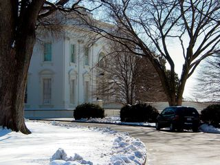 """Going past the West Wing, we again reach the main building. Note the """"fan"""" window on the west side."""