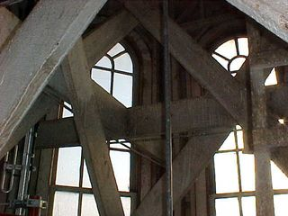 Continuing this same thread regarding the decorative nature of the cupola, there is much bracing inside, to add additional strength. This bracing also made for slight difficulty getting around up here, due to the need to duck under and step over the beams.